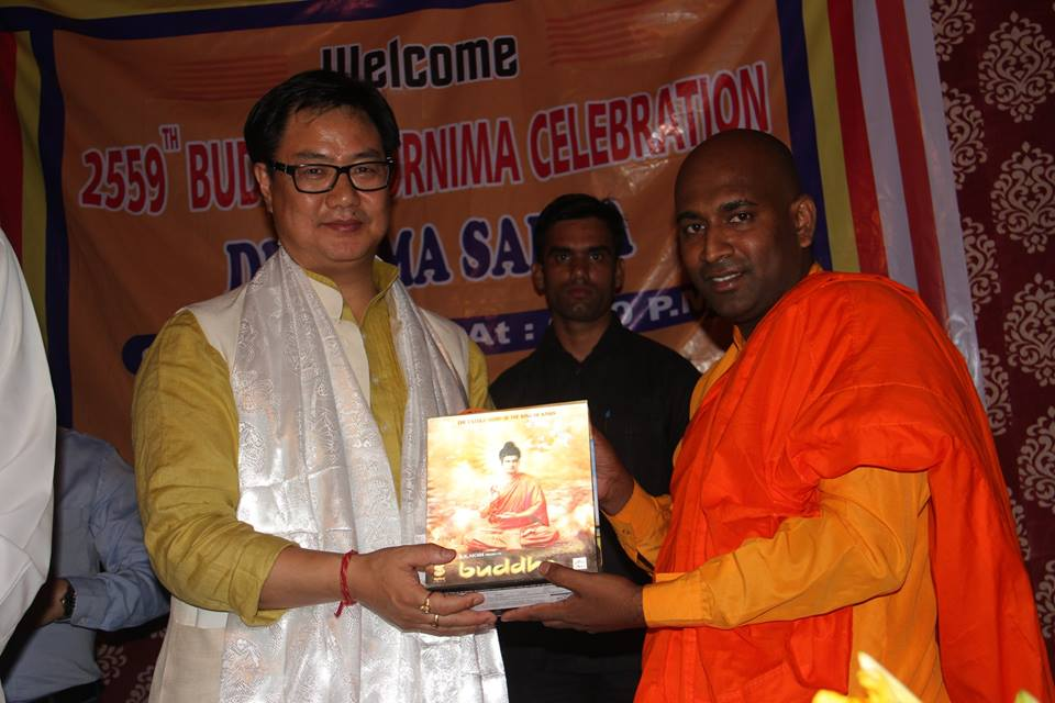 Shri Kiren Rijiju at Buddhist Temple New Delhi